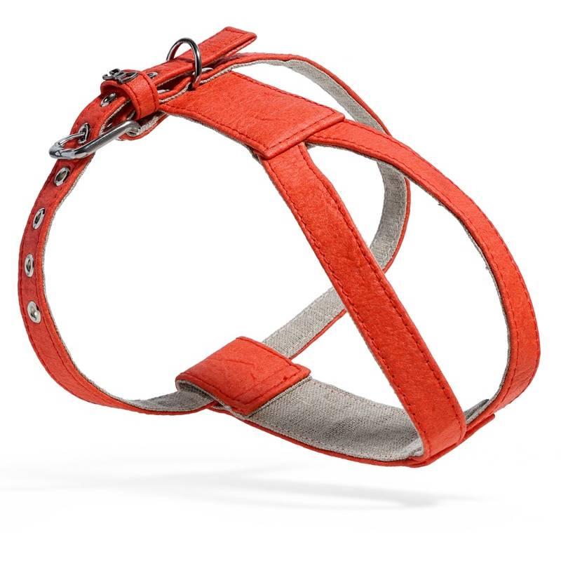 Harnais en Piñatex rouge