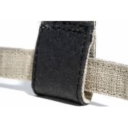 Détails Harnais en Piñatex noir intérieur coton et lin